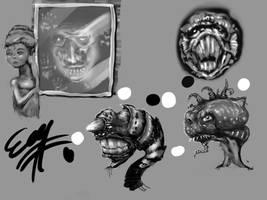 sketching monsters