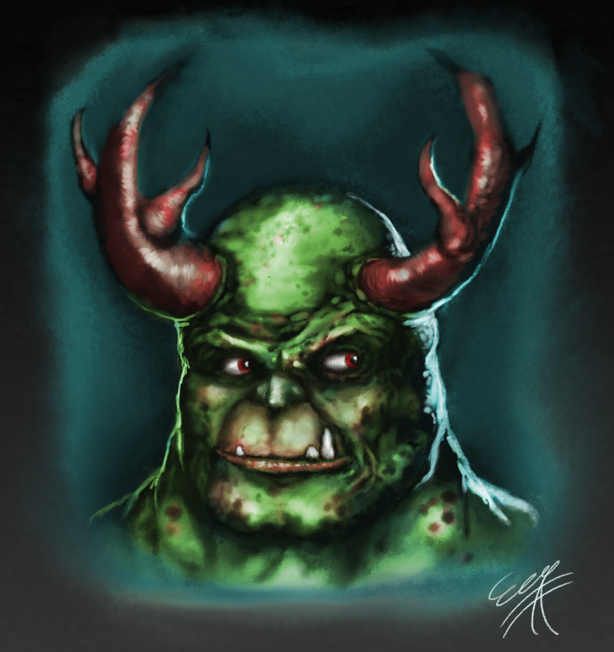 Horned Monster Dude by EricDaNerd