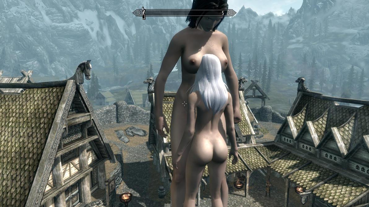 skyrim мод голые женщины