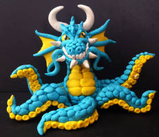 squid-dragon by LuckyCloversArt