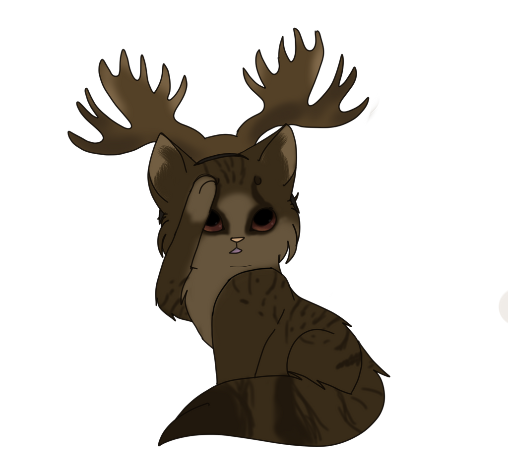 Supernatural - Sam Winchester Moose Cat by sparkeythehamster