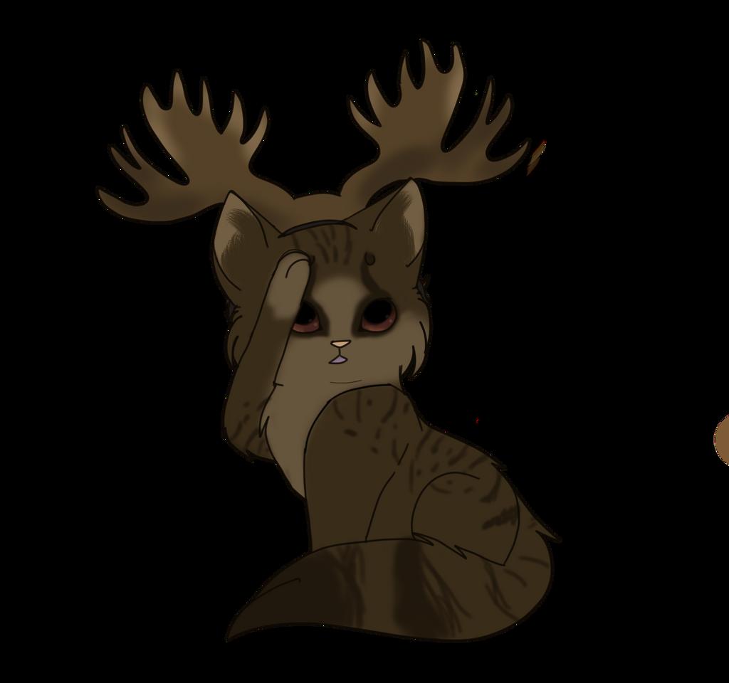 Supernatural - Sam Winchester Moose Cat by sparkeythehamster