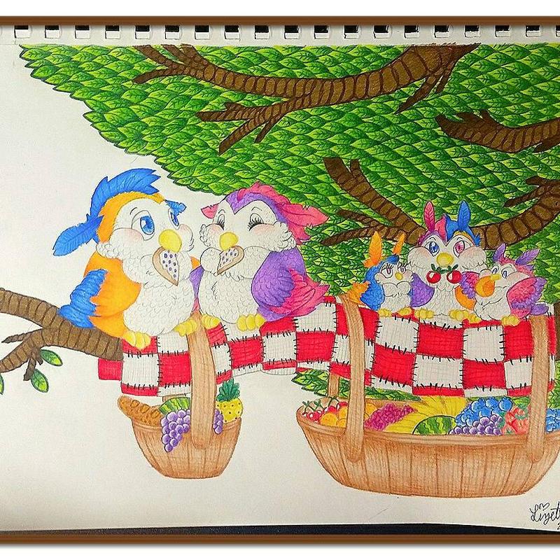 bridie family picnic by scavengerabbit