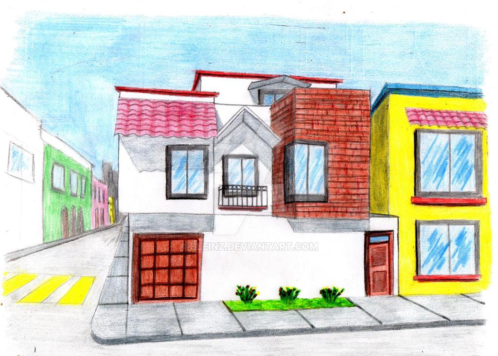 Perspectiva de casa habitacion by Bleinz