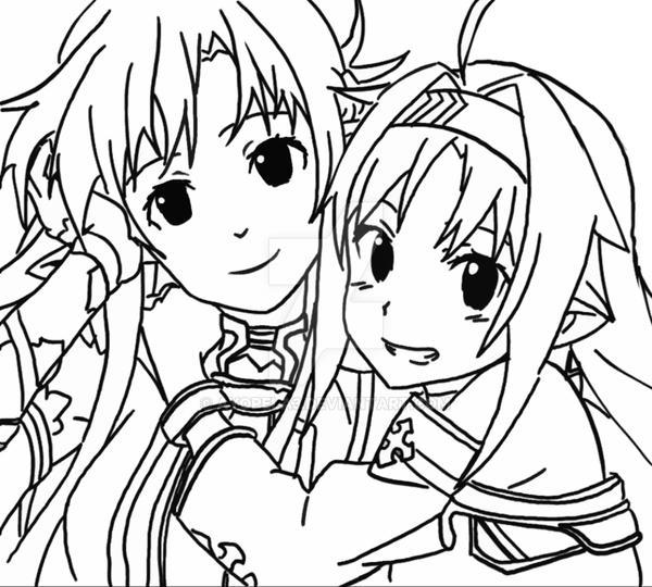 how to draw sword art online asuna