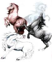 Four Punishments, Four Horses by BroknShadows