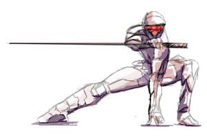 metal gear solid ninja by Blondehotty