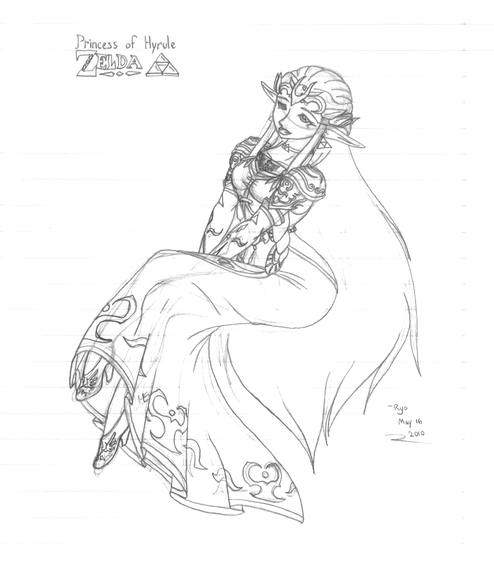 Zelda Twilight Princess Coloring Pages How To Draw Anime Zelda Solution For  How To For