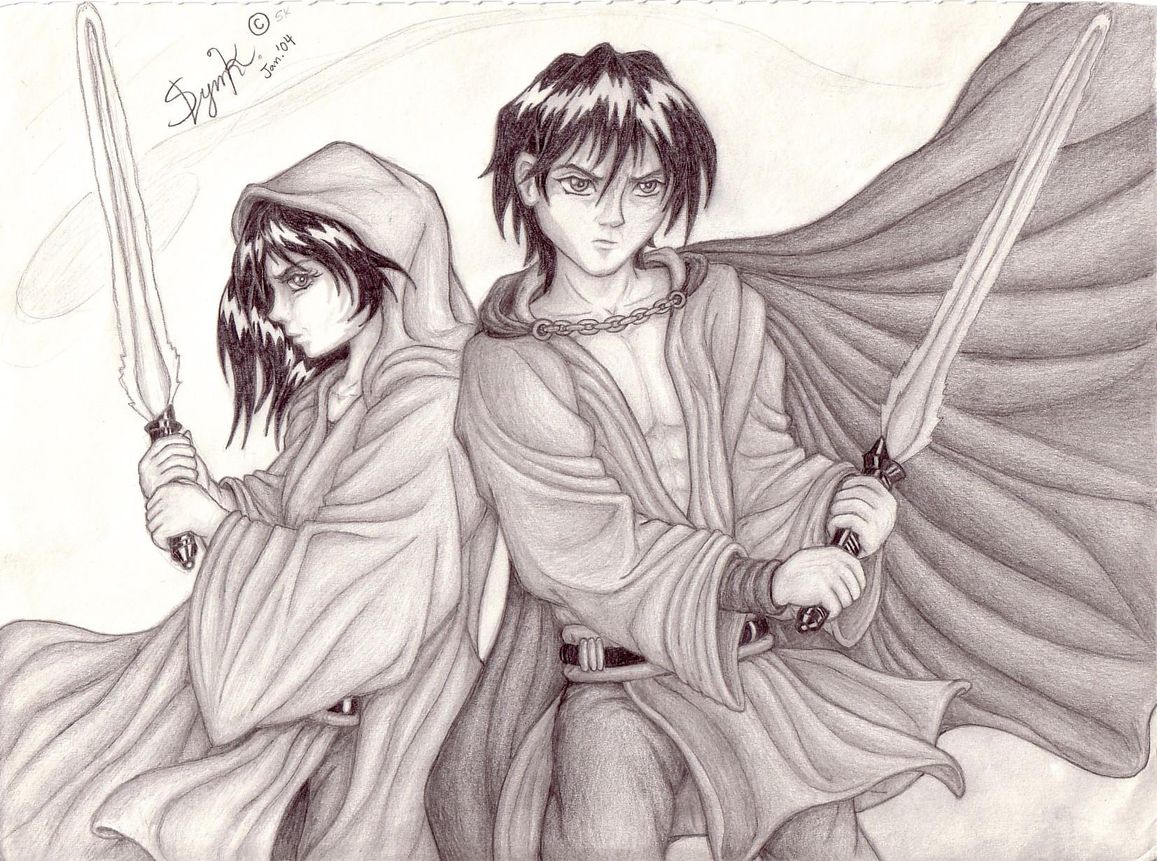 Jedi twins by Dragonic-Saga