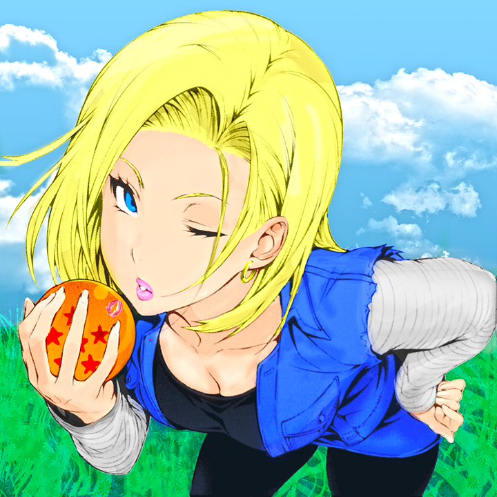 Android 18 And Tail Deviantart: Android 18 (DB 30th Anniversary) By Vishkugeta On DeviantArt