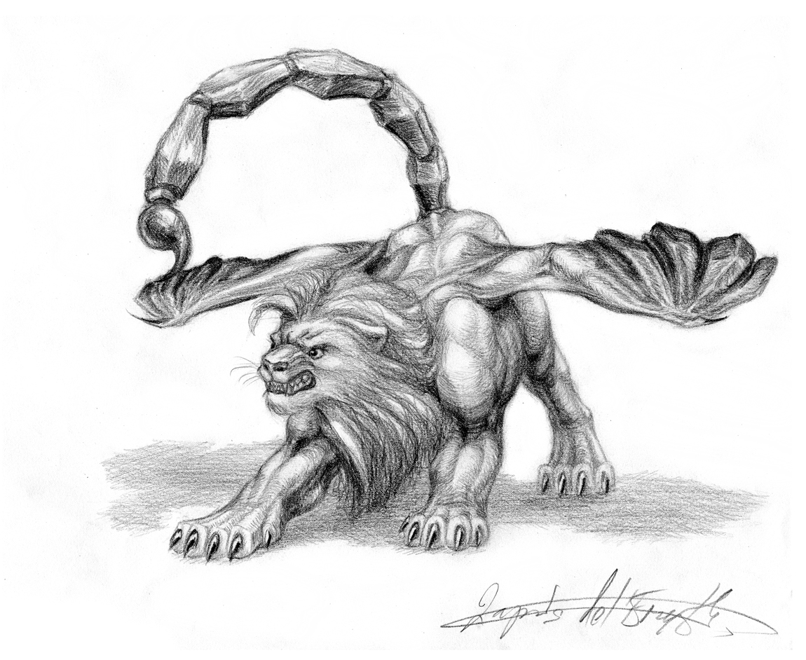 Pt. 1 - Manticore by lapis-lazuri on DeviantArt