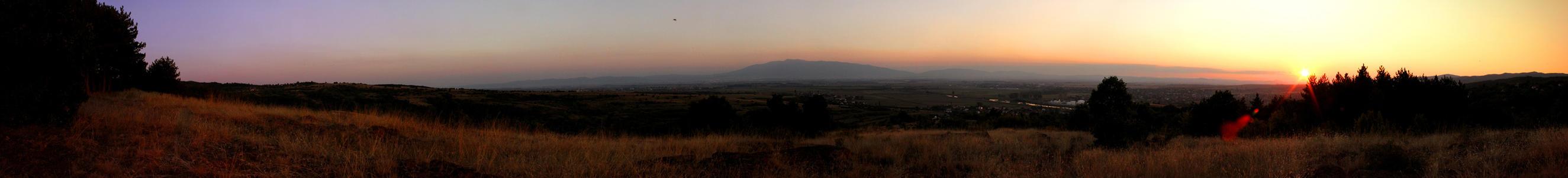Sunset panorama by lapis-lazuri