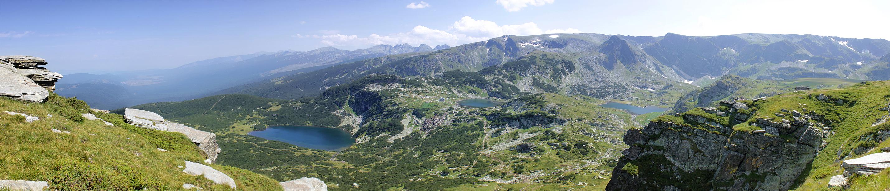 Seven Lakes panorama by lapis-lazuri