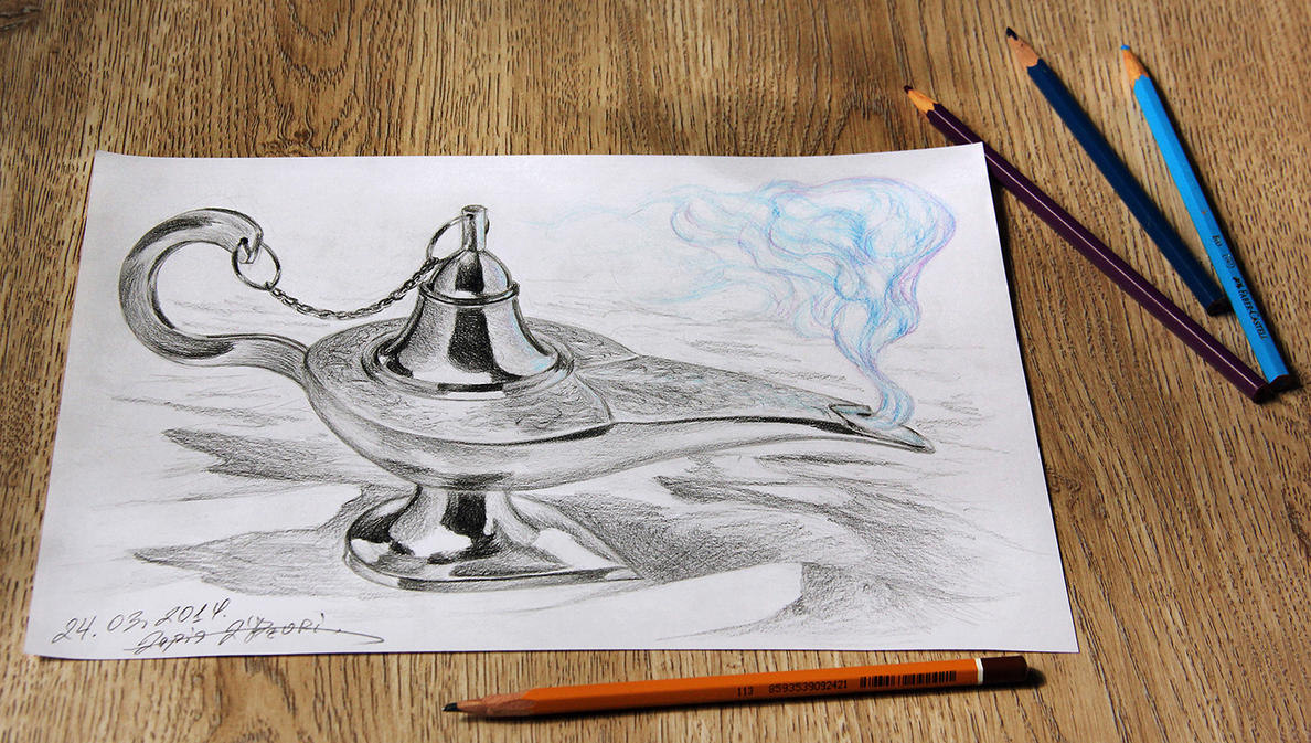 The Magic Lamp 3D by lapis-lazuri on DeviantArt for Magic Lamp Drawing  56bof