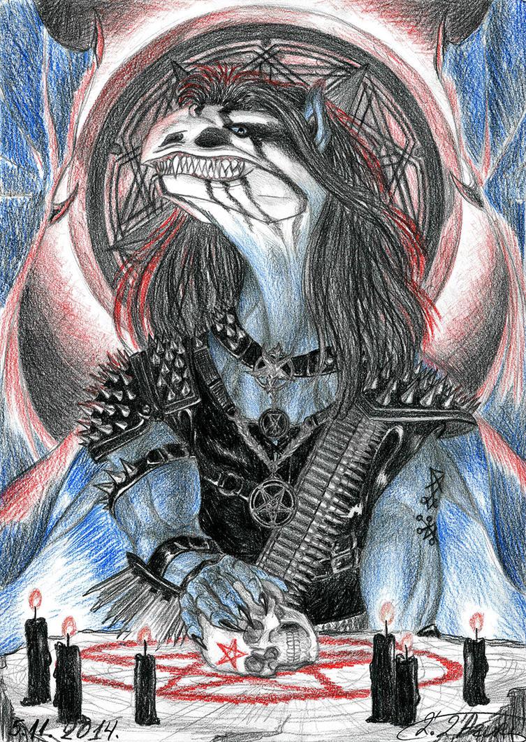 Black Metal Dragon by lapis-lazuri