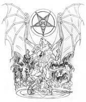 The Baphomet rising tattoo by lapis-lazuri