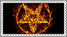 Satanic Pentagram of Fire stamp by lapis-lazuri