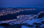Tromso i blaafall