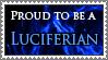 Proud Luciferian stamp (blue)