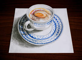 Azazel's cup of morning coffee