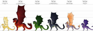 Chromatic Dragon Species - Comparison chart pt. 1