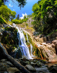 The Orpheus Waterfall vertical panorama by lapis-lazuri