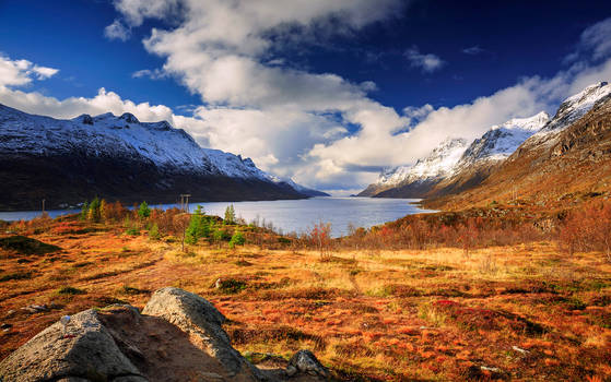 Delightful autumn day on Ersfjorden