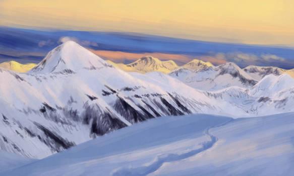Landscape 09 - Mountain Evening