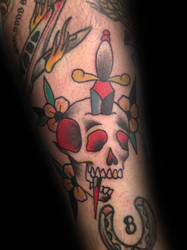 Skull And Dagger by tattoosbydanh