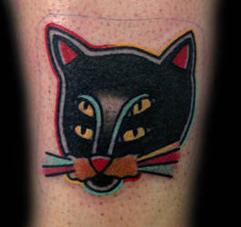 Cat Tattoo by tattoosbydanh