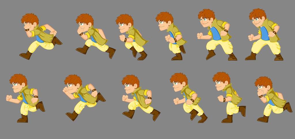 Videogame character Sprites by DarkoRistevski