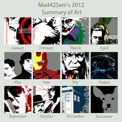 Mad42Sam's  2012 Art Summary by Mad42Sam