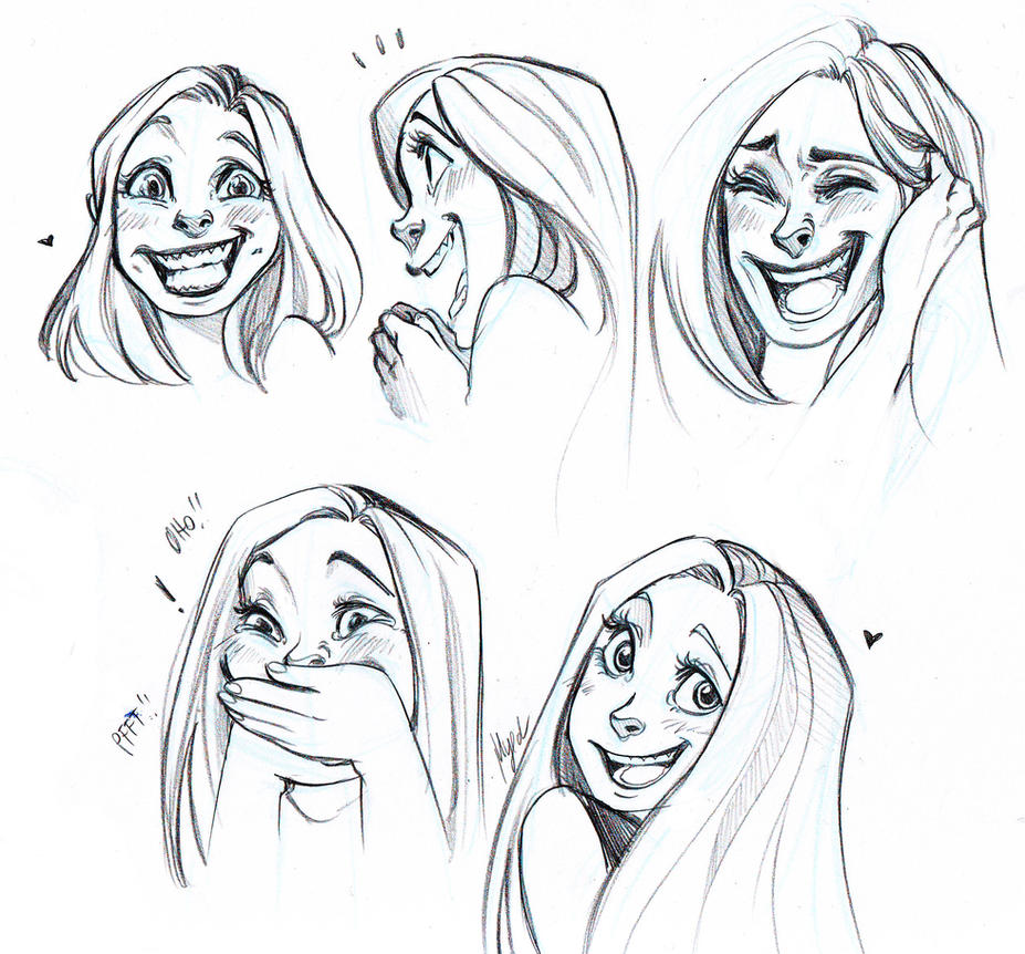 Laughing and Smiling Faces by Myed89 on DeviantArt