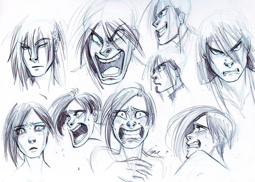 trying some anger and fear expressions by myed89 on