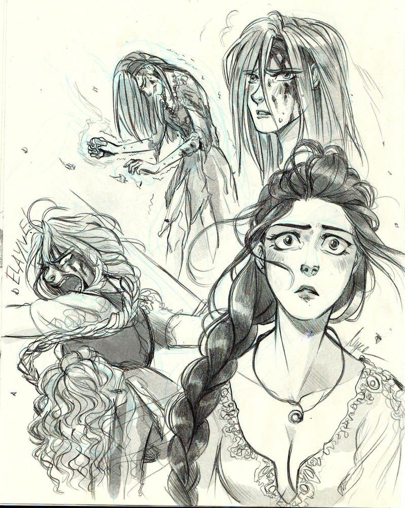 Nynaeve, Birgitte, Elayne and Aviendha - WoT by Myed89
