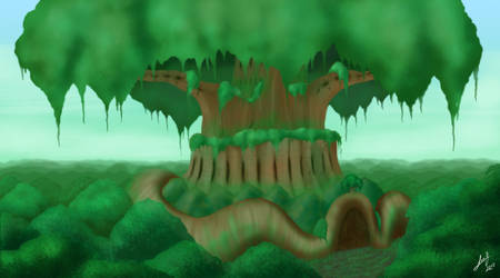 The Castle of the Forest Kingd by luigipanda