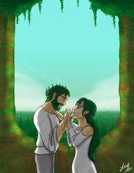 King Roble and Queen Laurel by luigipanda