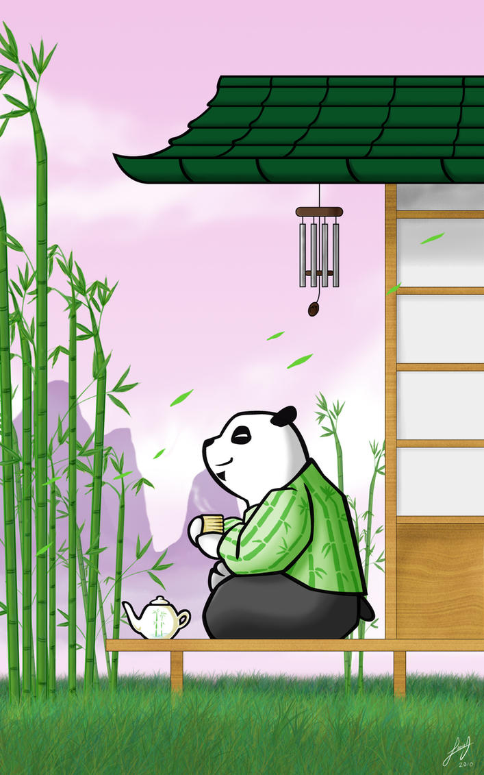 Relaxed panda by luigipanda