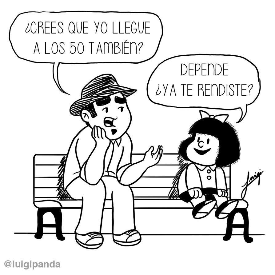 Epic and Random  Mafalda 50 years by luigipanda