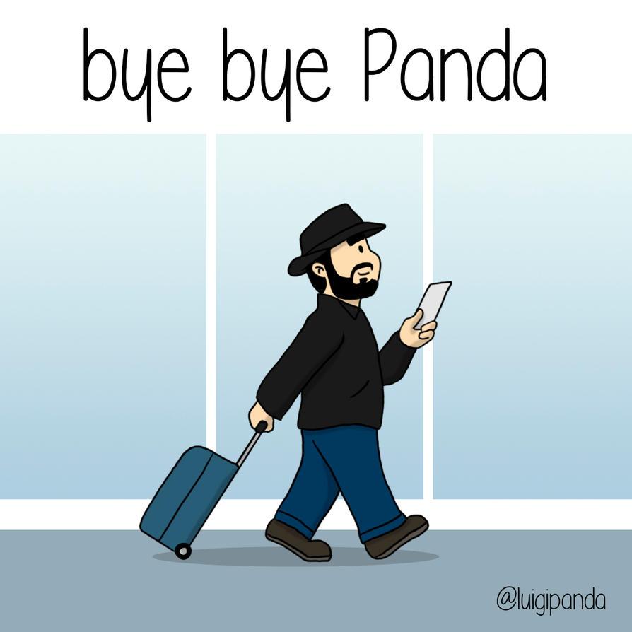 bye bye Panda by luigipanda