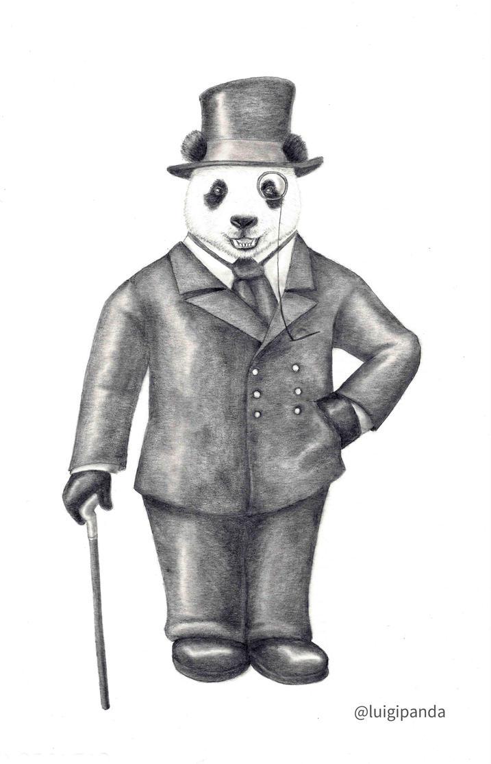Panda Sir by luigipanda