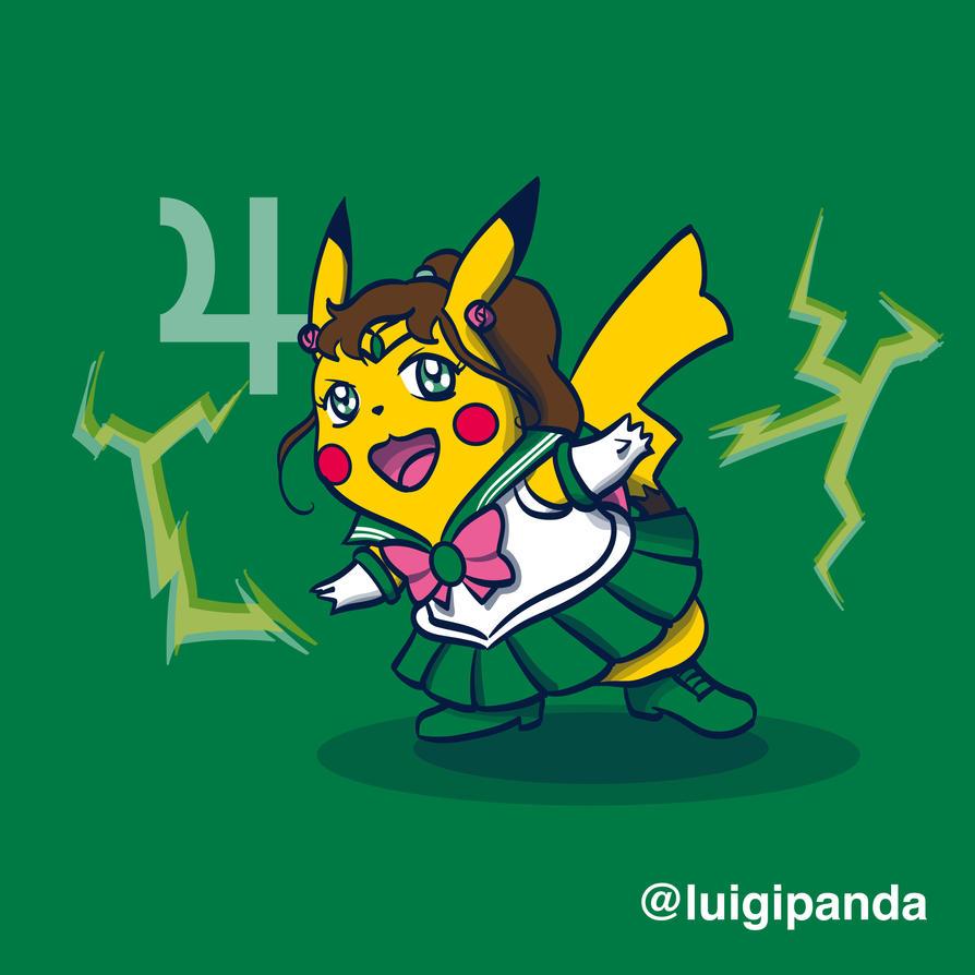 Sailor Pikachu by luigipanda