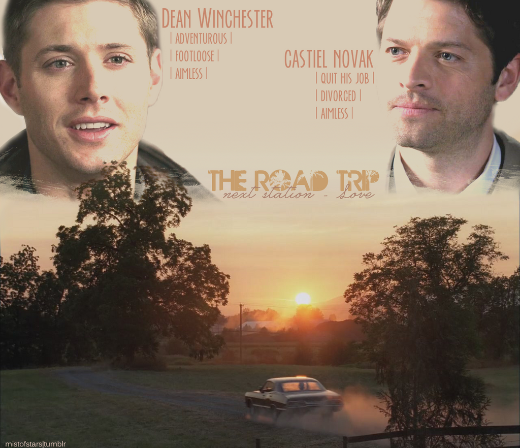 Road Trip: The Road Trip (Destiel Fake-movie Wallpaper) By
