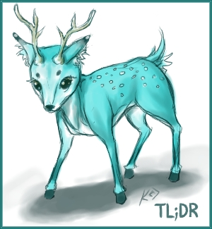 TEAL DEER by kunika