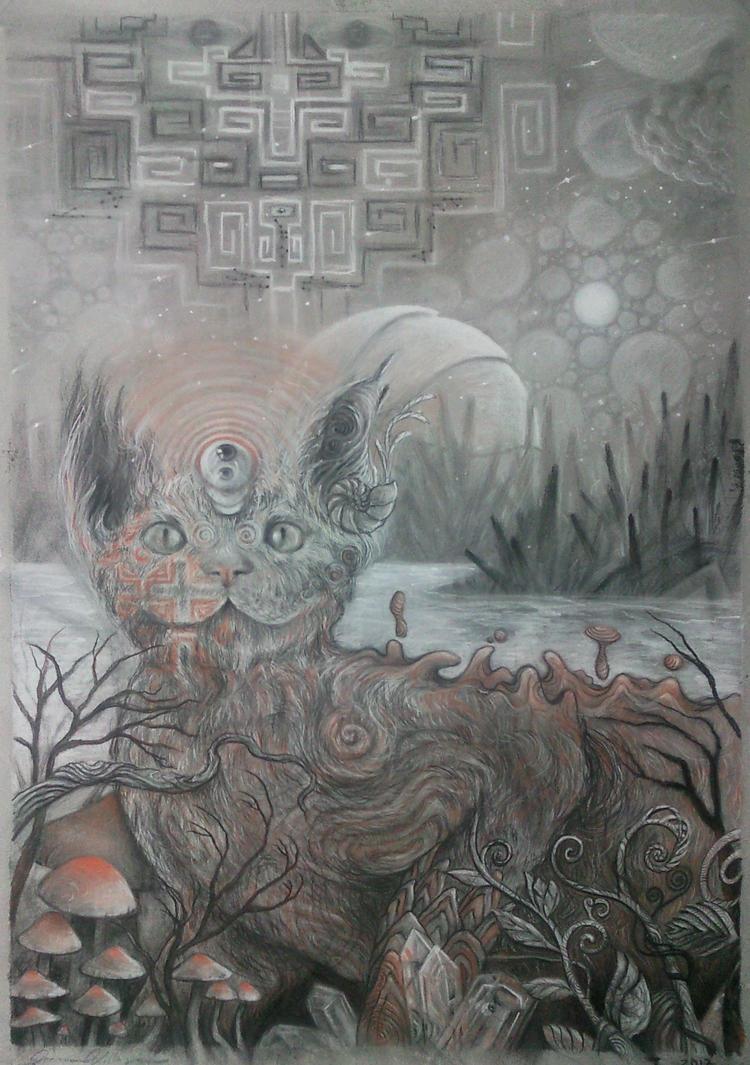 Gato Cosmico. by JormanComegato