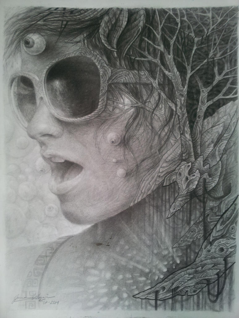 Fractalia II. graphite by JormanComegato