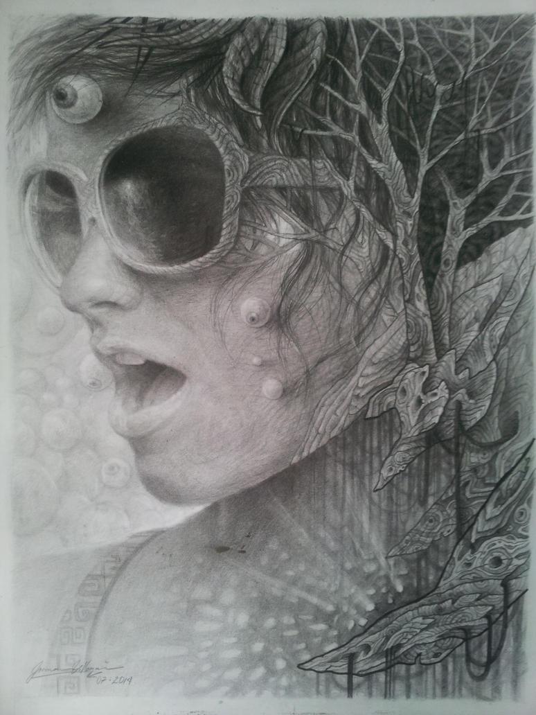 Fractalia II. graphite by JormanComegato