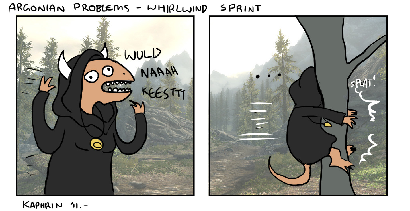 argonian problems - whirlwind sprint by kaphrin