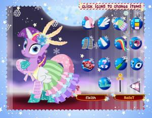 cde winter ponydressup figure