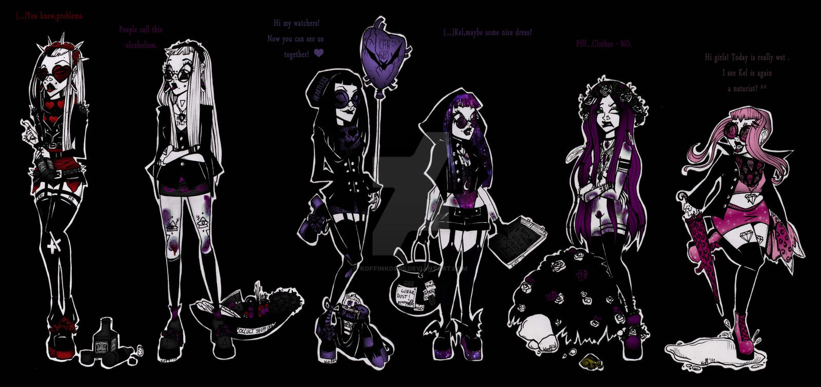 we are monster girls from freaky world by koffinkorps on